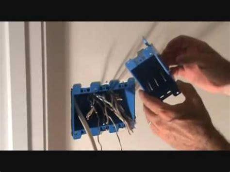 installing   gang electrical cut  light switch box
