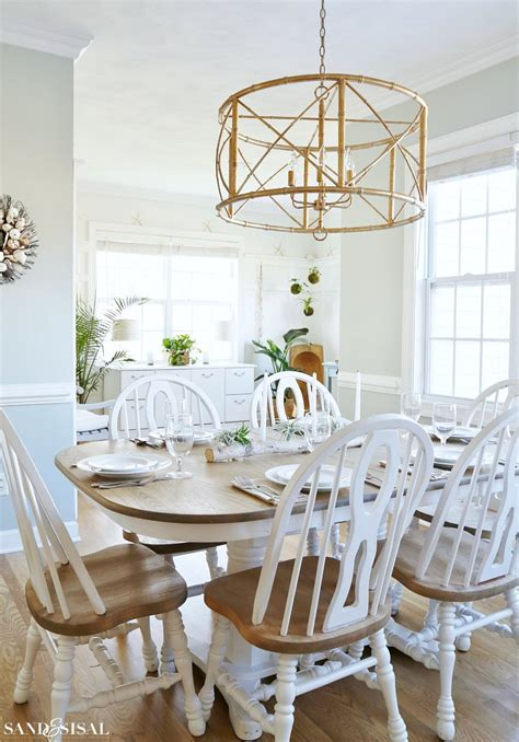 Kitchen Table Chandelier by Birch Log Centerpiece With Air Plants And Succulents