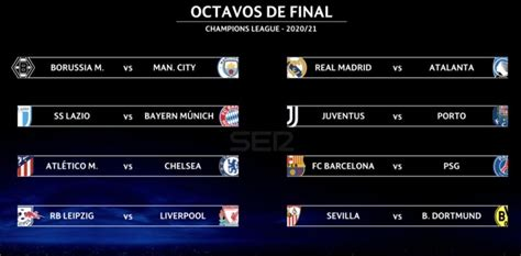 1/4 de finale ldc • match aller du 6 au 7 avril 2021. Así quedaron los cruces de octavos de la Champions