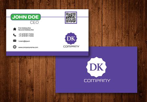 Purple Creative Business Card Business Card Organizer Digital With Name Same Day Office Depot Desktop Free Online Template For Word Resize Printing India Order Form Pdf