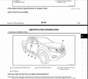 Nissan Navara D23 2014 Service Manual  U0026 Wiring Diagram