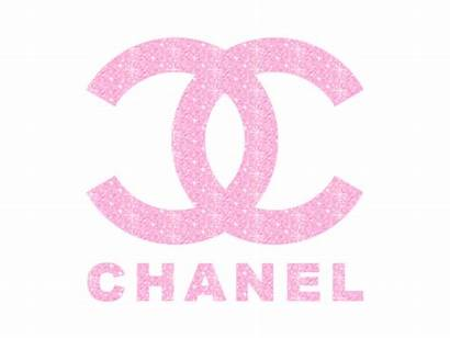 Chanel Coco Pink Girly Glitter Heart Logos