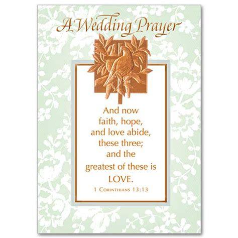 faith hope  love abide wedding congratulations card