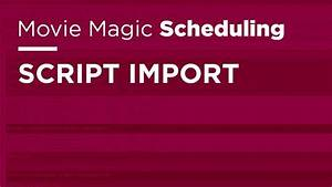Work Breakdown Schedule Script Import Movie Magic Scheduling Youtube
