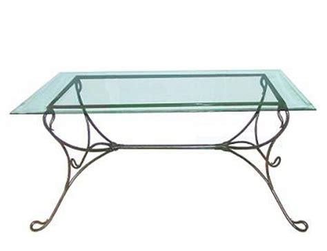 la m 233 tallerie table de salle 224 manger en fer forg 233 plateau en verre