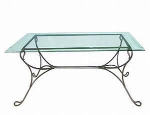 Plateau De Table En Verre : la m tallerie table de salle manger en fer forg plateau en verre ~ Teatrodelosmanantiales.com Idées de Décoration