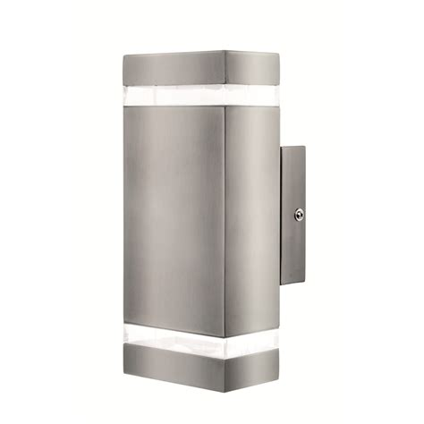 brilliant broome stainless steel up exterior wall light