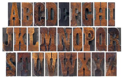 Antique Wood Type Alphabet Stock Photo. Image Of Grain