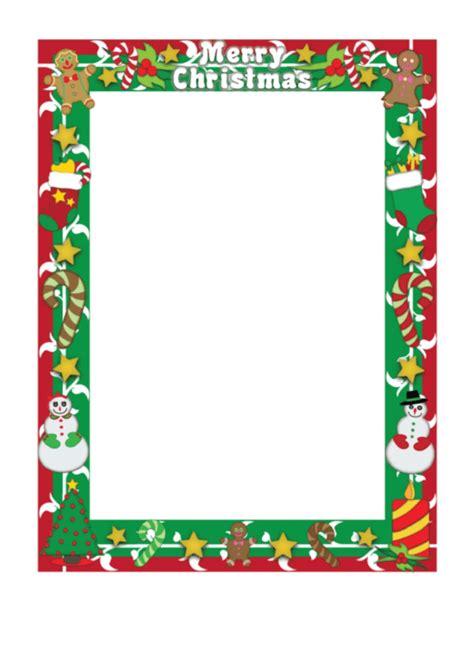 merry christmas page border template printable