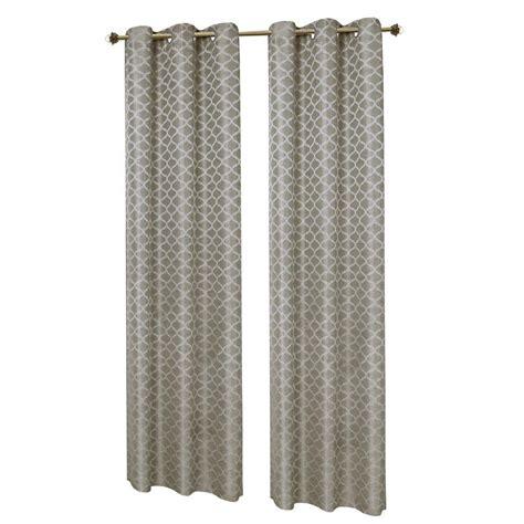 curtain rod grommet kit window elements sonata woven lattice jacquard gray grommet