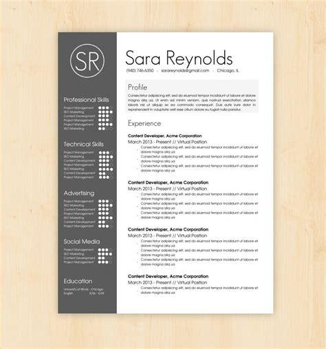 resume design templates profile experience professional