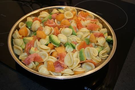 salade de pates saumon melon et avocat vanille bourbon