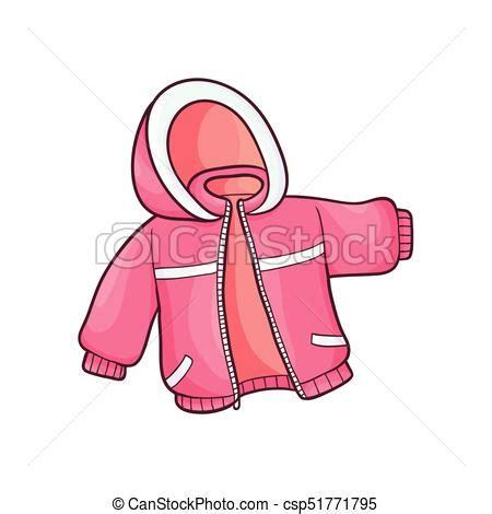 vector flat baby kid jacket vector flat cartoon child