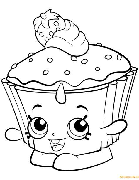 Hello Kleurplaat Cupcakes by Cupcake Chic Shopkin Season 2 Coloring Page Free