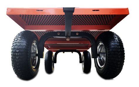 Garden Trolley - Large, 350kg, Flat Free Tyres, Drop Sides ...