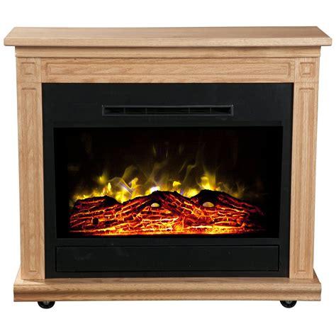 Heat Surge Roll N Glow Electric Fireplace Light Oak