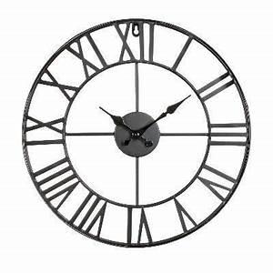 VINTAGE Horloge Murale Mtal D40cm Achat Vente Horloge