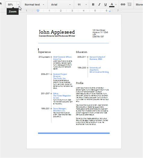 create an eye catching resume in docs employment pinterest docs