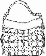 Handbag Coach Pages Draw Coloring Purse Gucci Handbags Bag Colouring Purses Step Hand Drawing Sketches Accessories Drawings Bags Designer Dragoart sketch template