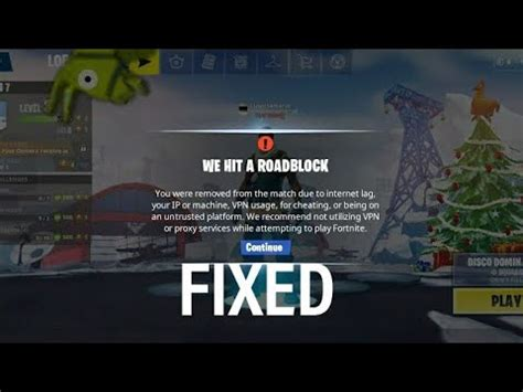 fix vpn error  fortnite mobile season  unrootdevice