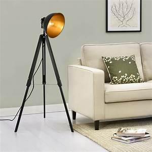 Lampe Sur Pied Industriel : lampadaire tr pied avec abatjour design ~ Melissatoandfro.com Idées de Décoration