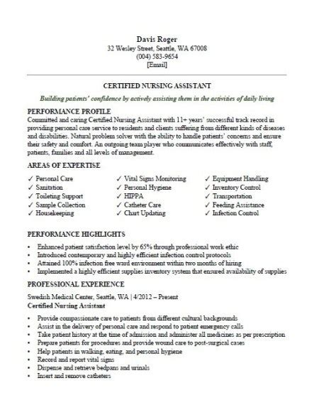 Cna Resume Template by Certified Nursing Assistant Cna Resume Sle Clr