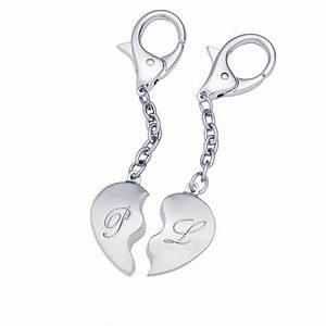 Porte Clé Couple : porte cl c ur pour couple avec initiales ~ Teatrodelosmanantiales.com Idées de Décoration
