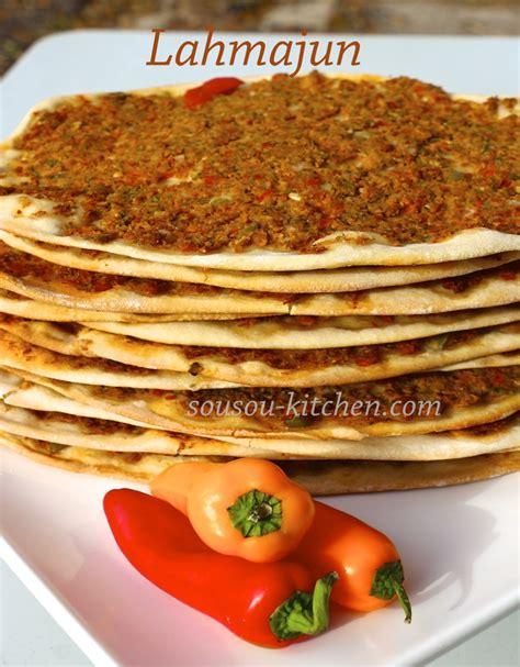 la cuisine de ramadan lahmacun pizza turque sousoukitchen
