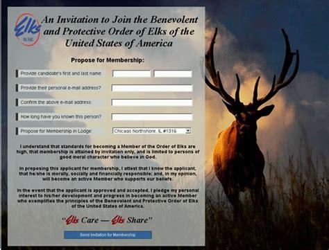 elksorg  membership invitations