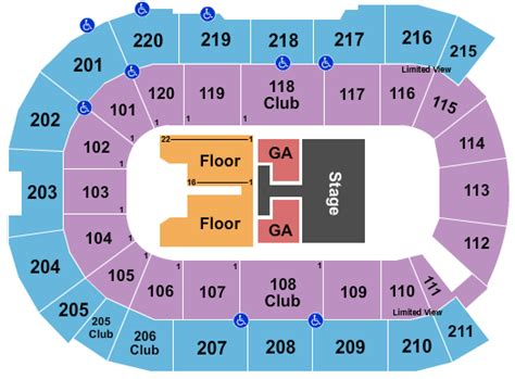 angel   winds arena seating chart everett