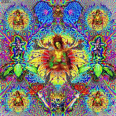 Psychedelic Maya Trippy Salvia Tara Lady Artwork