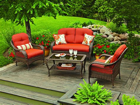 4 patio outdoor garden lwan furniture conversation