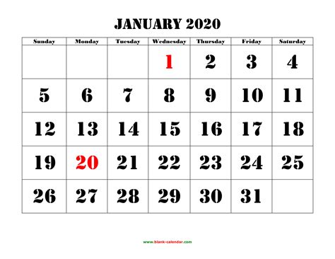 Free Download Yearly Calendar