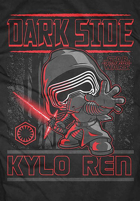 Kaos Wars Wars pop tees wars side kylo ren s t shirt