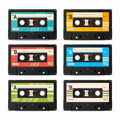 Cassette Tape Vector Clip Recorder Audio Illustrations
