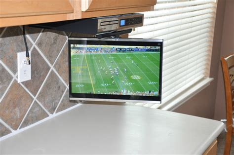 best under cabinet tv under the counter televisions for kitchens