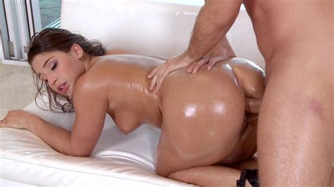 Lubed Up Abella Danger Enjoys Her First Ever Anal Sex