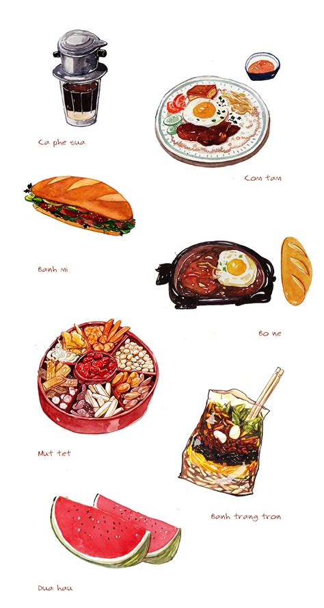 illustration cuisine food illustration on behance