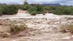 Heavy Rain Causes Flash Floods in Arizona