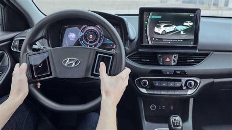 hyundai thinks steering wheel touchscreens   good idea