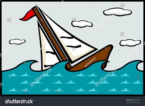 Sinking Boat Icon by Sinking Ship Stock Vector 53884933