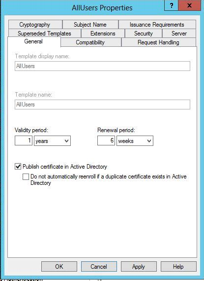 Active Directory Certificate Templates by Active Directory Certificate Templates Gallery Template