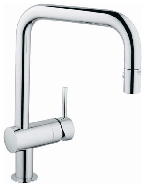 houzz kitchen faucets grohe pull out spray kitchen faucet contemporary
