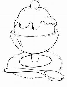 Free coloring pages of scoops of ice cream