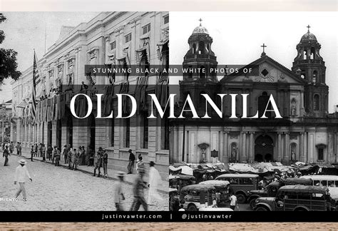 Stunning Black And White Photos Of Old Manila Circa
