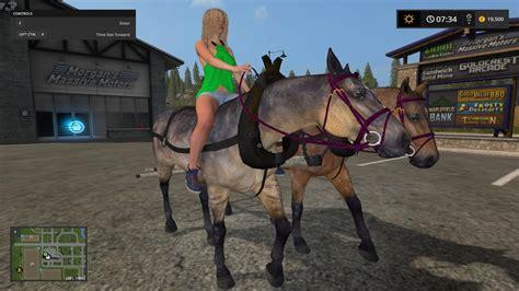 hard working horses  ls farming simulator