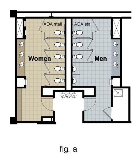 bathroom design dimensions ada guidelines for five toilets or less per restroom ada