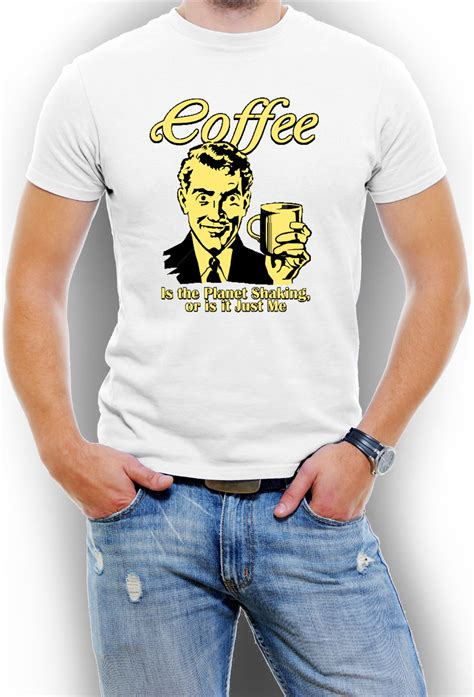 A parody of the nike logo for coffee lovers. Funny Coffee T shirt For Men Assorted Colors Sizes S-3XL, Dropship Handbags Blind Drop Shipping ...