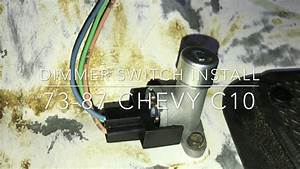 Headlight Dimmer Switch Install 73-87 Chevy C10