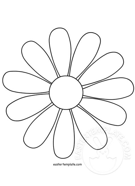 daisy flower template easter template